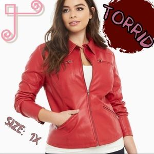Red Torrid Moto Jacket